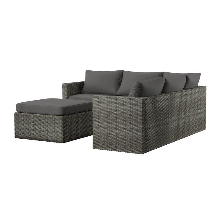 Lorentzen Patio Sectional with Cushions