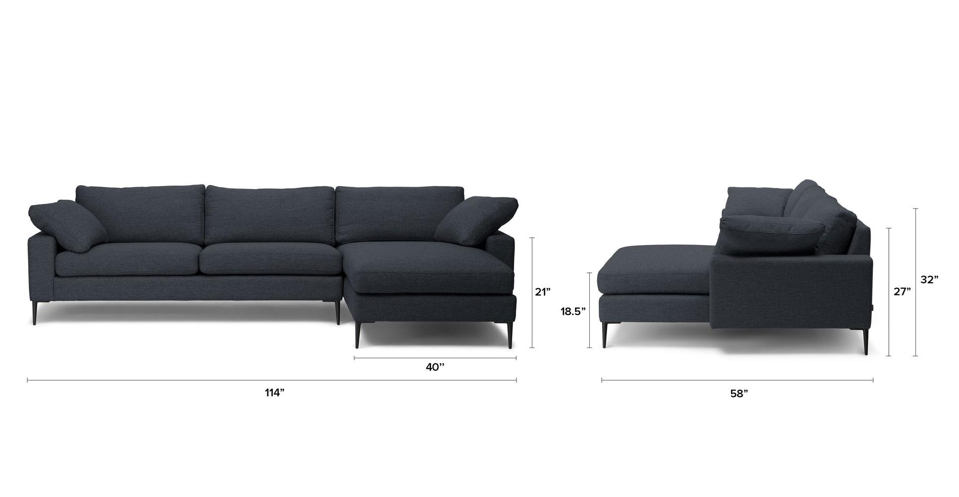 NOVA  - Bard Gray - Right Sectional