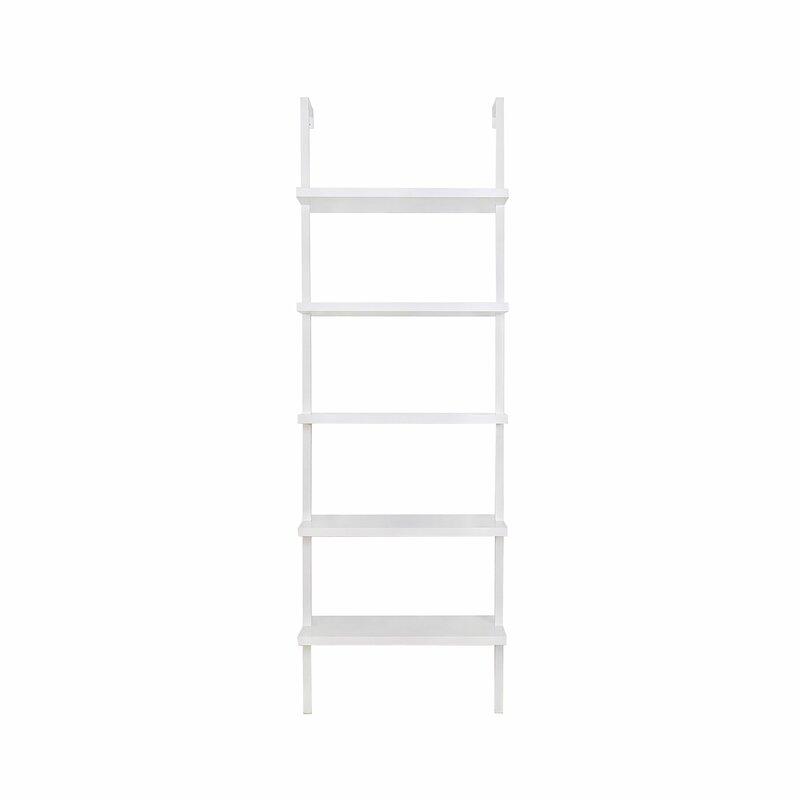 """Zachary 72.5"""" H x 24"""" W Steel Ladder Bookcase"""