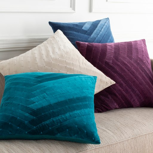 "Aviana - 22"" x 22"" Pillow Cover with Down Insert"