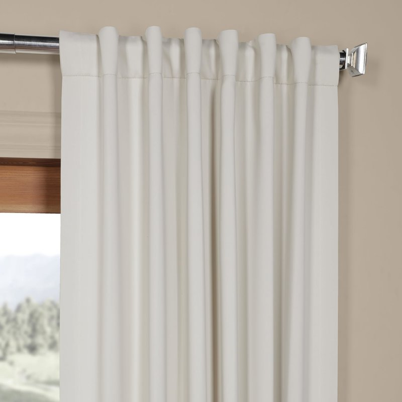 Cairo Blackout Curtain Rod Pocket Panel PAIR