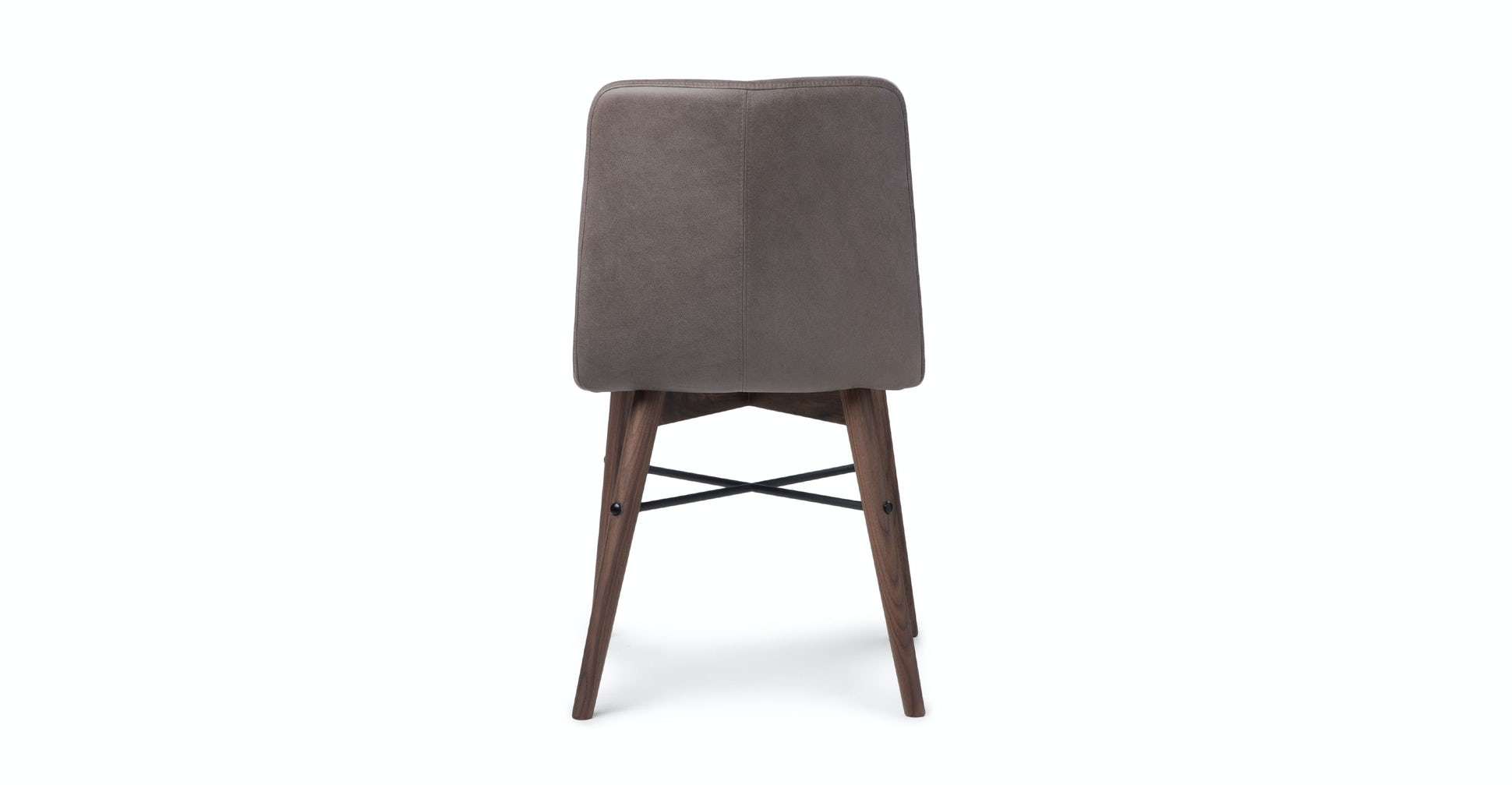 Kissa Canyon Charcoal Matte Walnut Dining Chair, set of 2