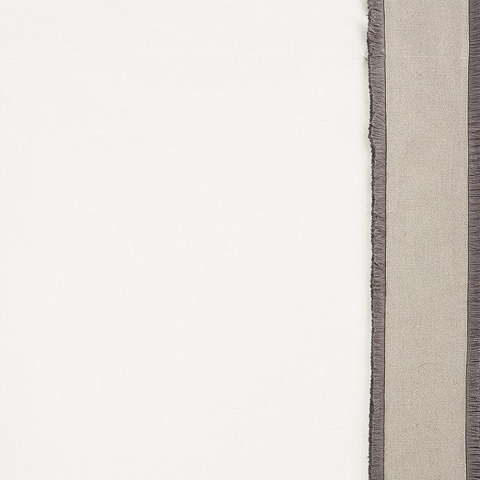 "Set of 2 Bellport Fringed Drapery Panels Blue 96"" - Ballard Designs"