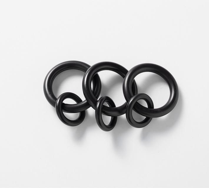 PB Standard Round Rings, Set of 7, Large, Antique Bronze Finish