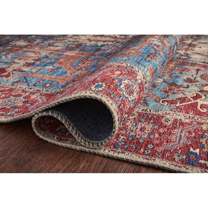 Anza Blue/Red Area Rug