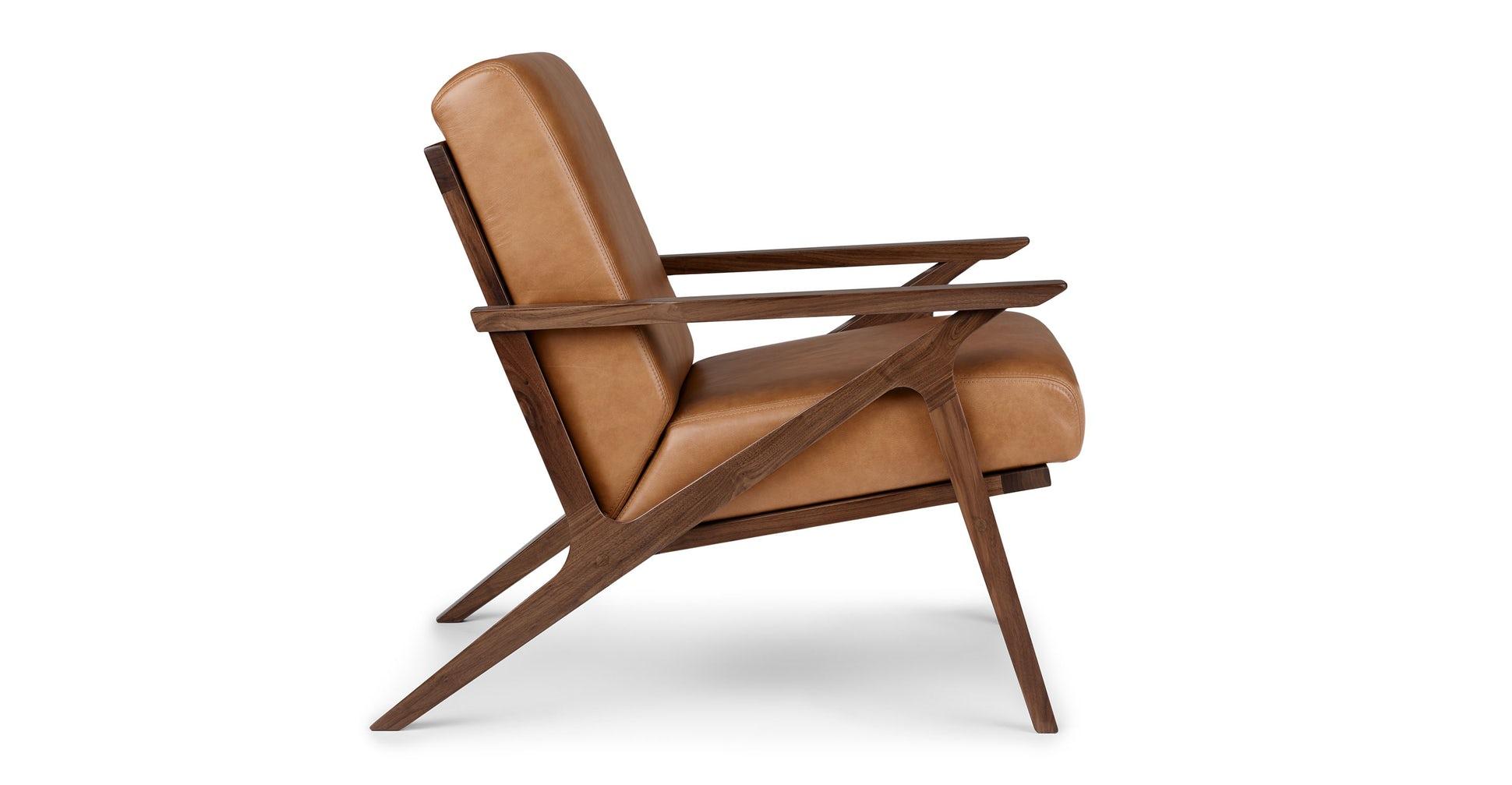 Otio Toscana Tan Walnut Lounge Chair