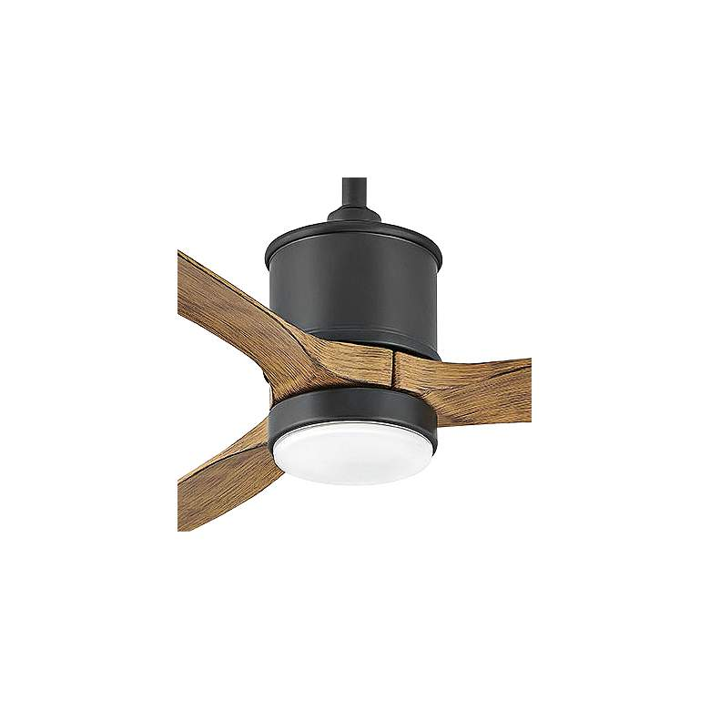 """52"""" Hinkley Hover Matte Black Wet LED Ceiling Fan - Style # 84J76"""