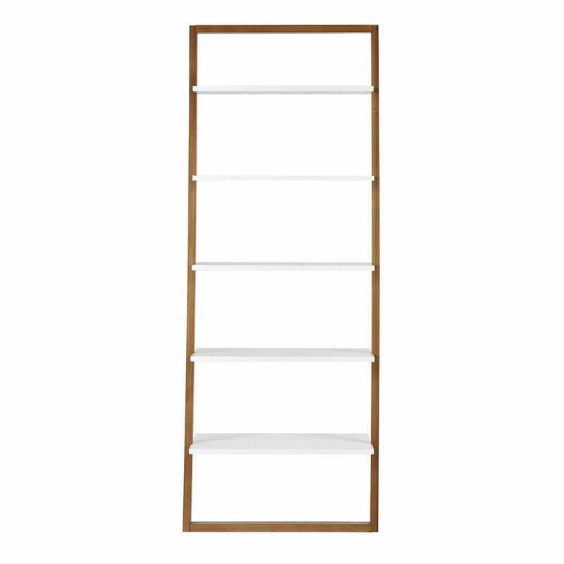 "Theophanes 73.6"" H x 28"" W Ladder Bookcase"