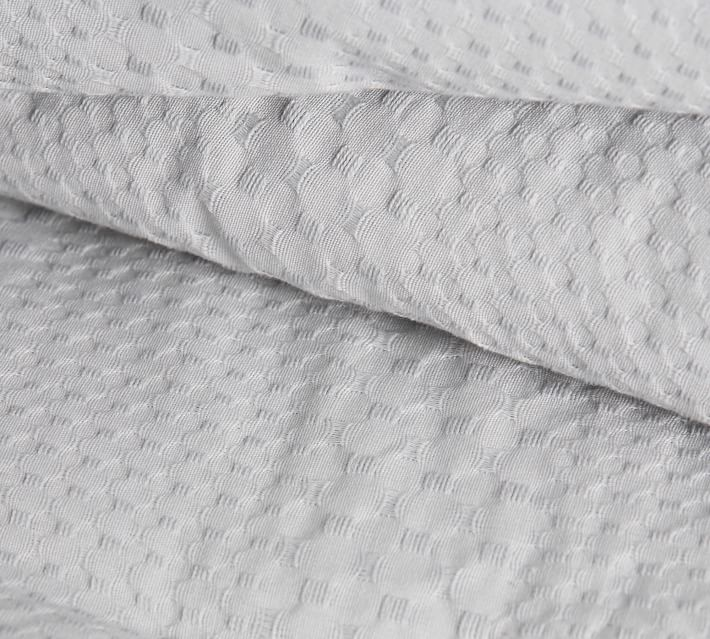 Waffle Weave Textured Organic Percale Comforter, King/Cal. King