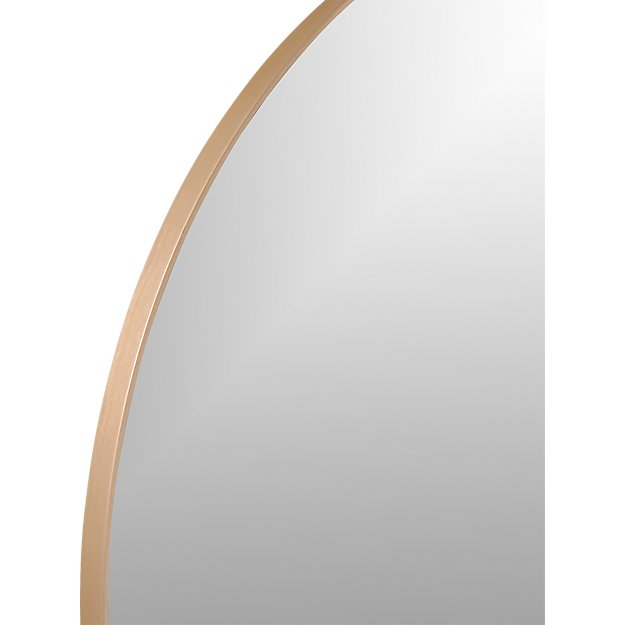 """INFINITY 36"""" ROUND COPPER WALL MIRROR"""