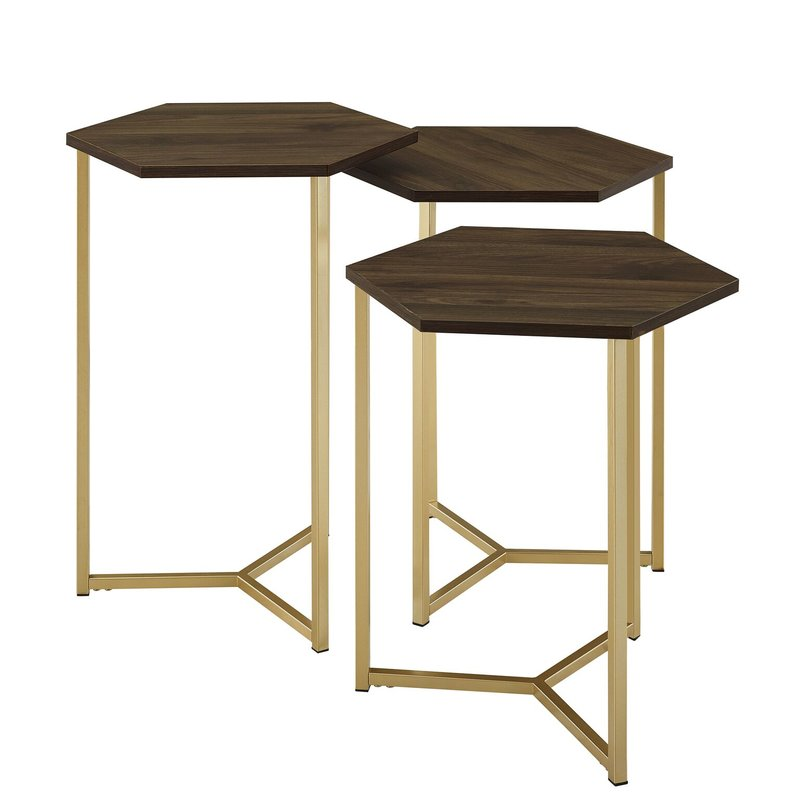 Labounty Hex 3 Piece Nesting Tables