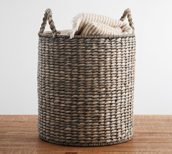 Charleston Basket, Tote, Gray