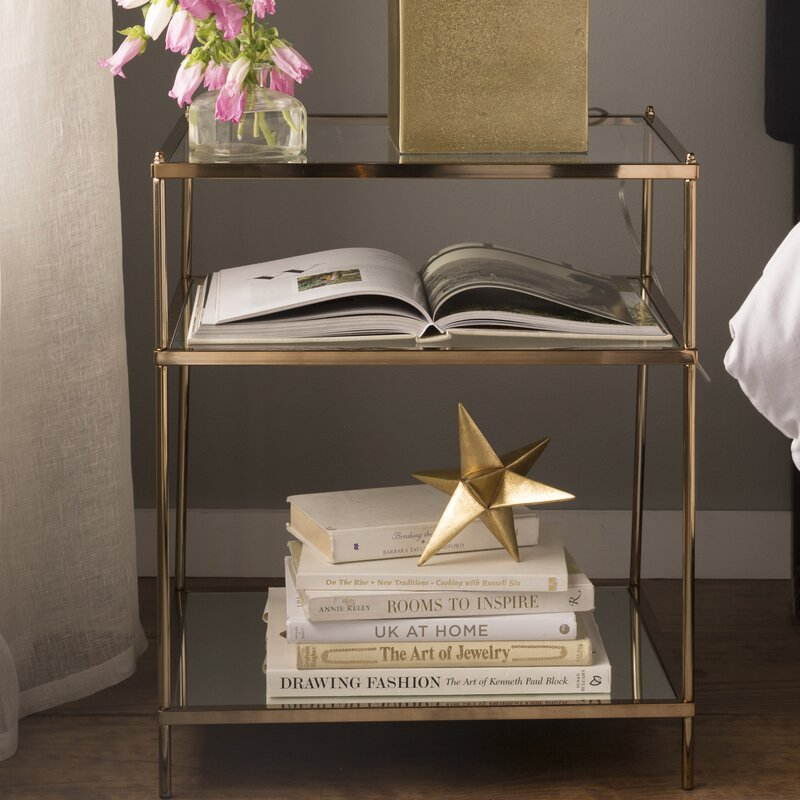 Marlene Glass Top End Table