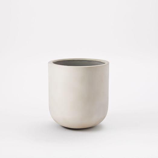 Radius Planter, Medium, Off White