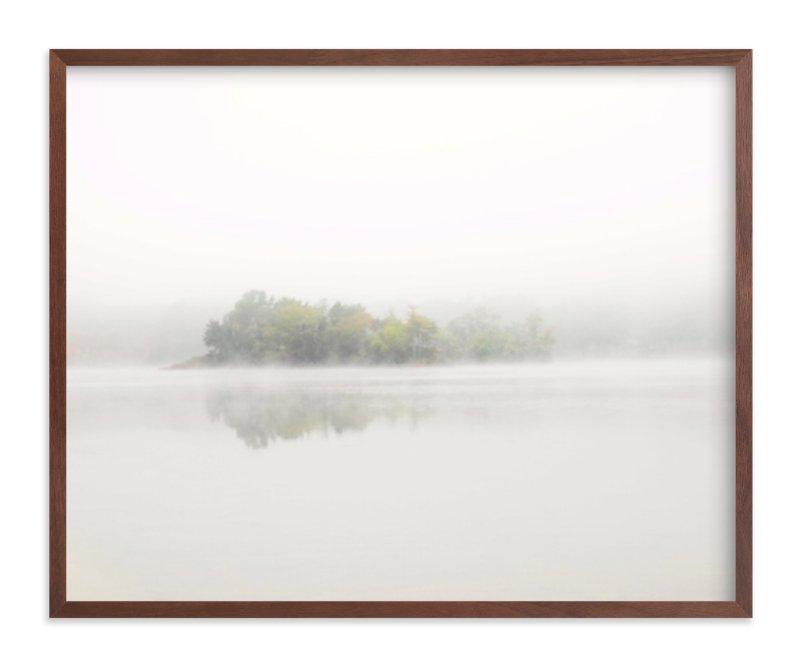 """The Island - Walnut Frame, 20"""" x 16"""""""