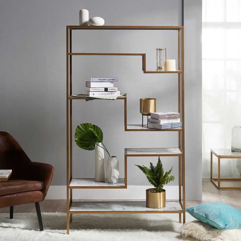 Borst Geometric Bookcase