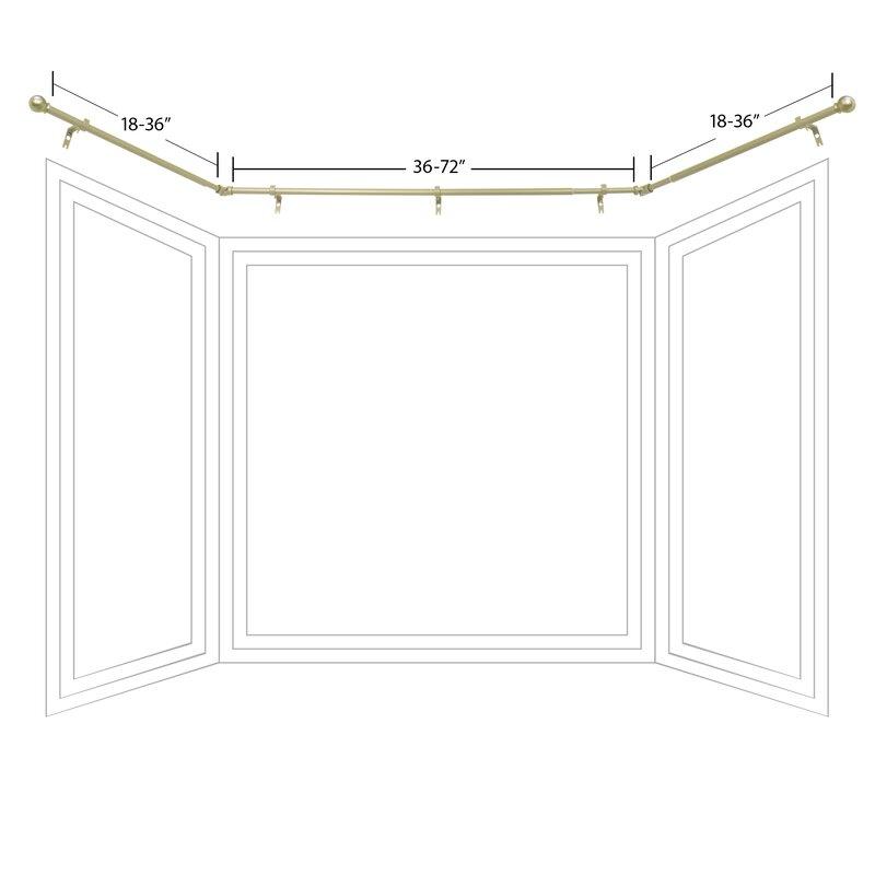Cavett Bay Window Curtain Rod and Hardware Set