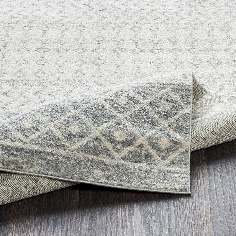 Leonard Pattern Wool Gray Area Rug