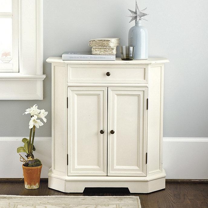 Ballard Designs Piccola Cabinet Table Distressed White