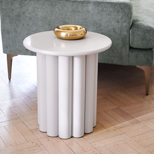 Hera Side Table, Semi-Circle