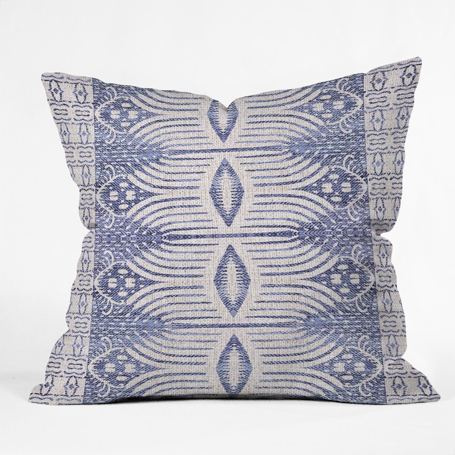 FRENCH LINEN TRIBAL IKAT Pillow with Insert