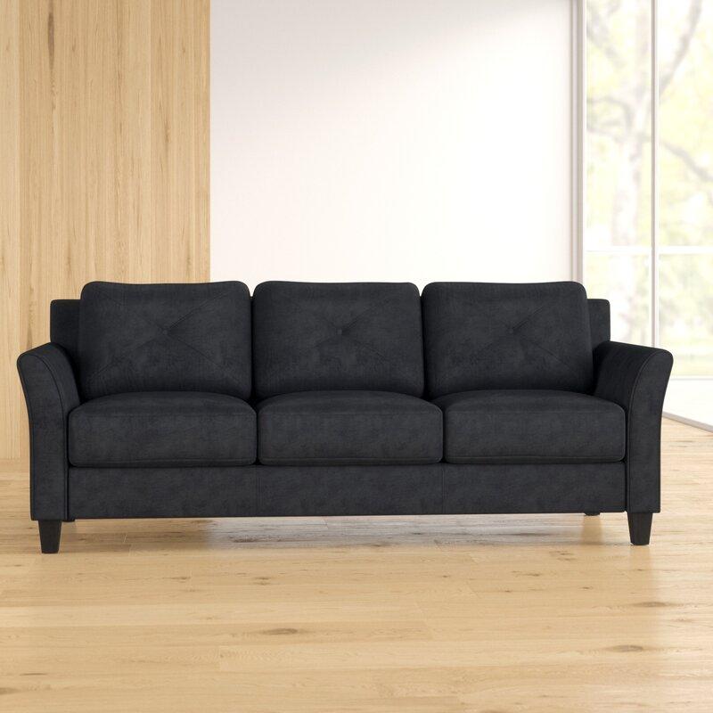 """Ibiza Microfiber 80.3"""" Flared Arm Sofa"""