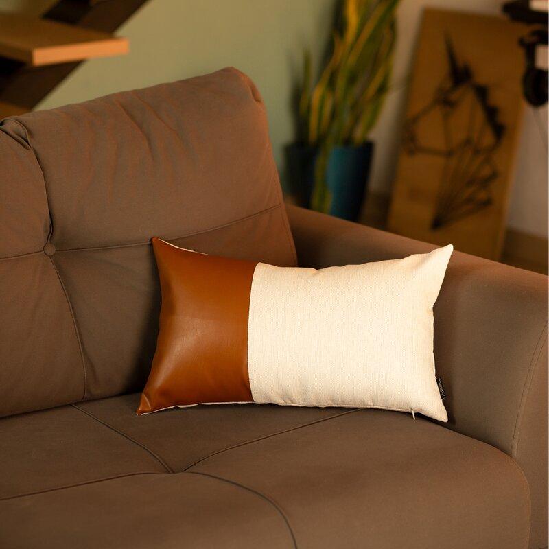 Alverez Faux Feather Lumbar Pillow Cover