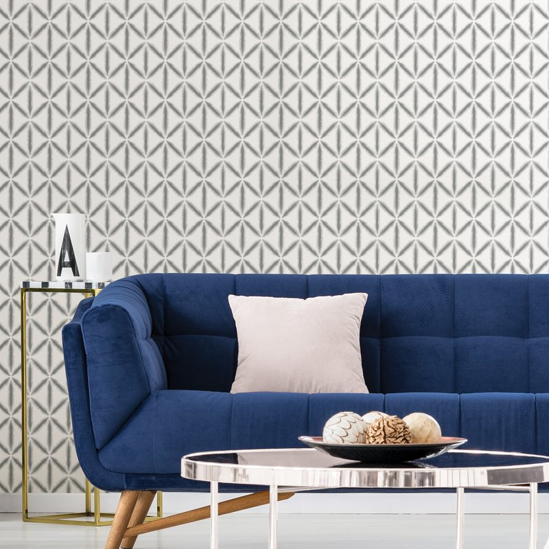 """Nathaly 18' L x 20.5"""" W Texture Peel and Stick Wallpaper Roll"""