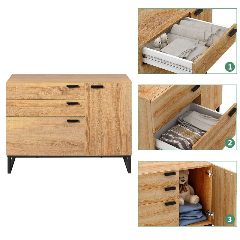 Cuomhouse Wood 3 Drawer Accent Chest