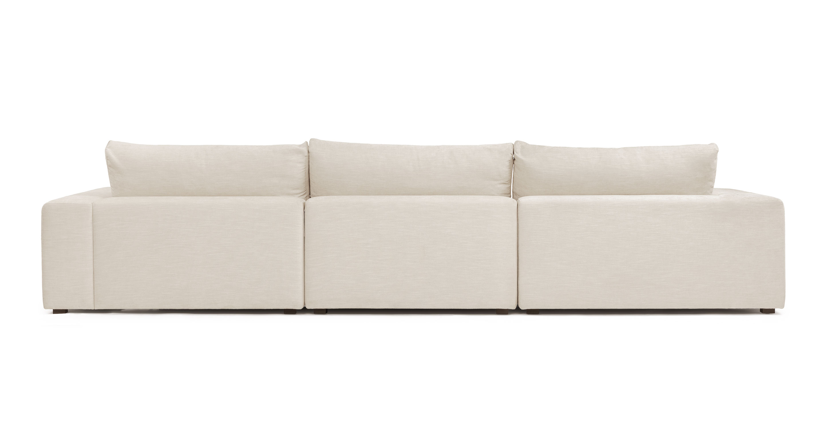gaba pearl white modular left sectional