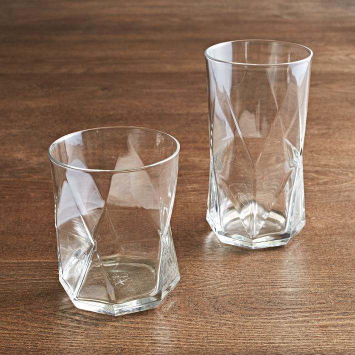 Cassiopeia Glassware, Rocks, Set of 6, Clear