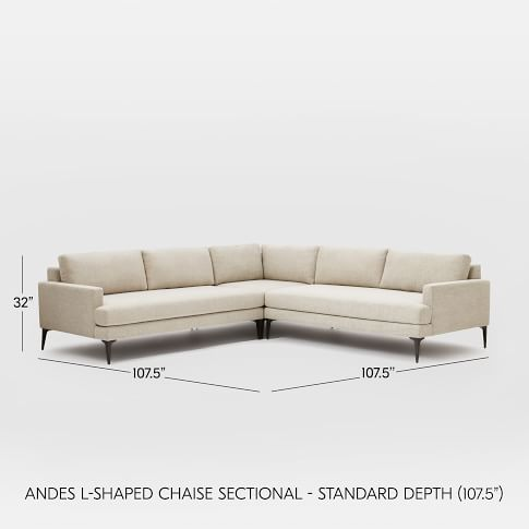 Andes Sectional Set 03: Left Arm 2.5 Seater Sofa, Corner, Right Arm 2.5 Seater Sofa, Poly, Distressed Velvet, Mineral Gray, Blackened Brass