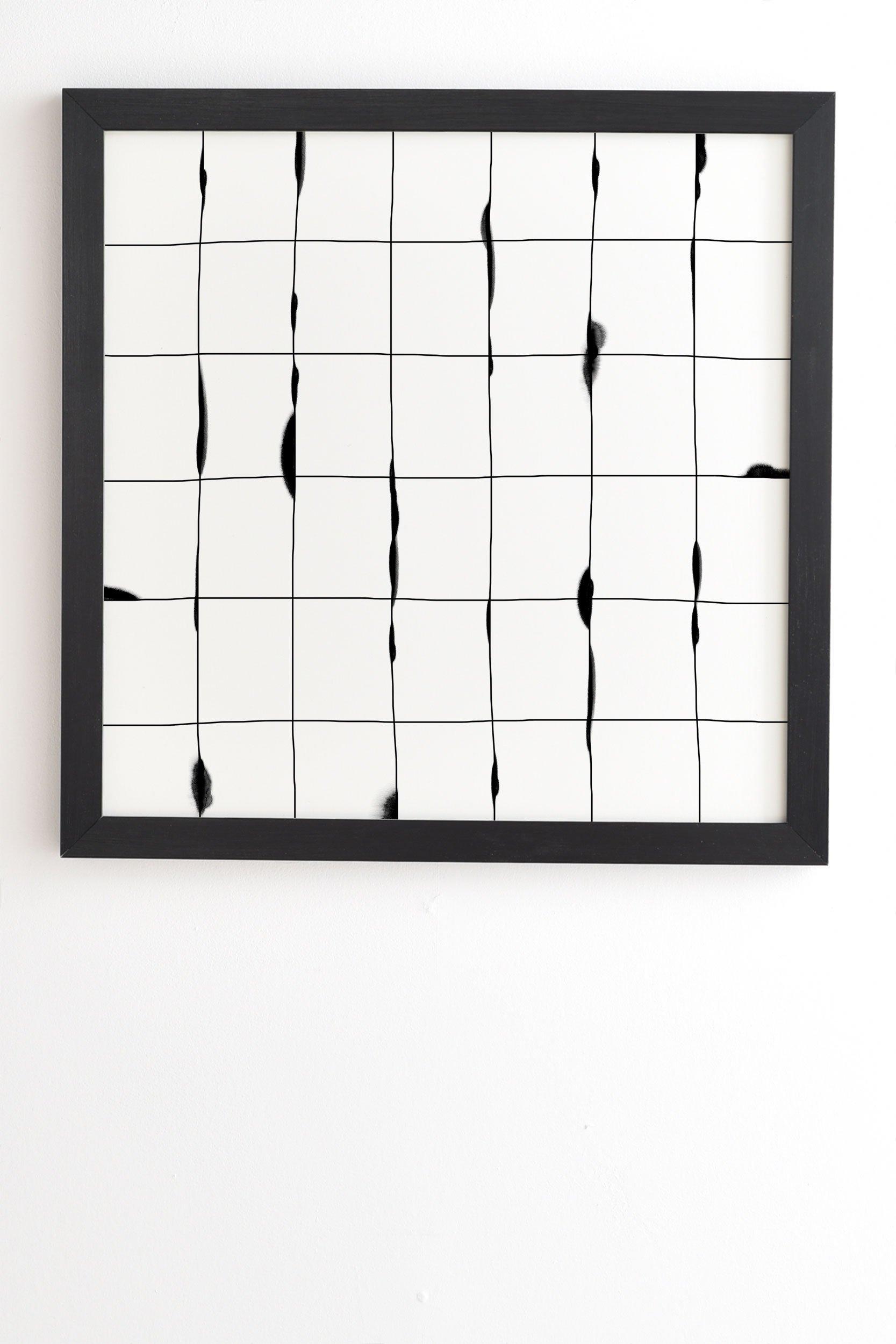 "Iveta Abolina Between the Lines White White Framed Wall Art - 30"" x 30"""