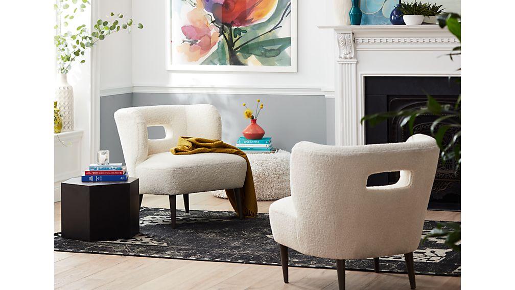 Mimi Vegan Lambskin Chair