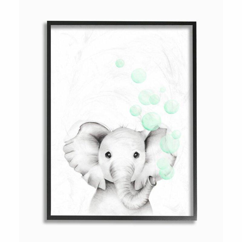 Segal Cute Cartoon Baby Elephant Painting Kids Wall Décor