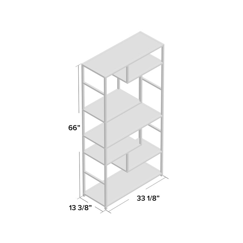 Anabelle Geometric Bookcase