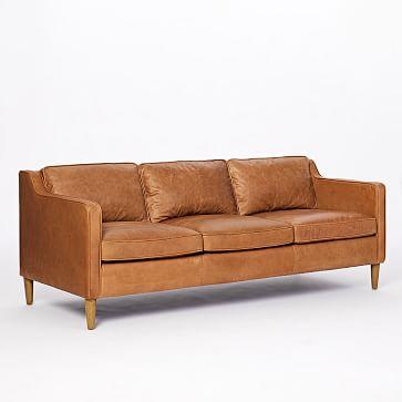 Hamilton Leather 3-Seater Sofa, Burnt Sienna