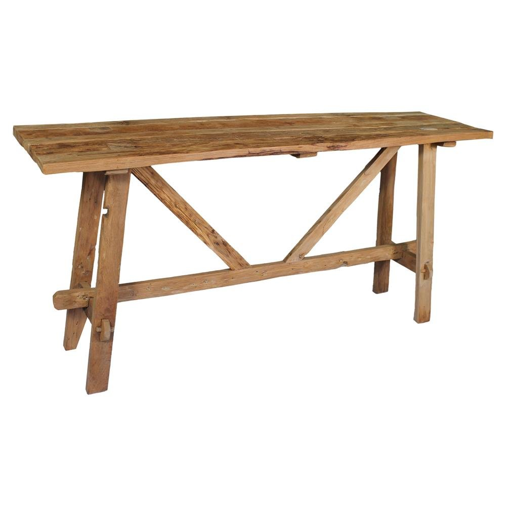 Danna Rustic Brown Reclaimed Teak Wood Console Table