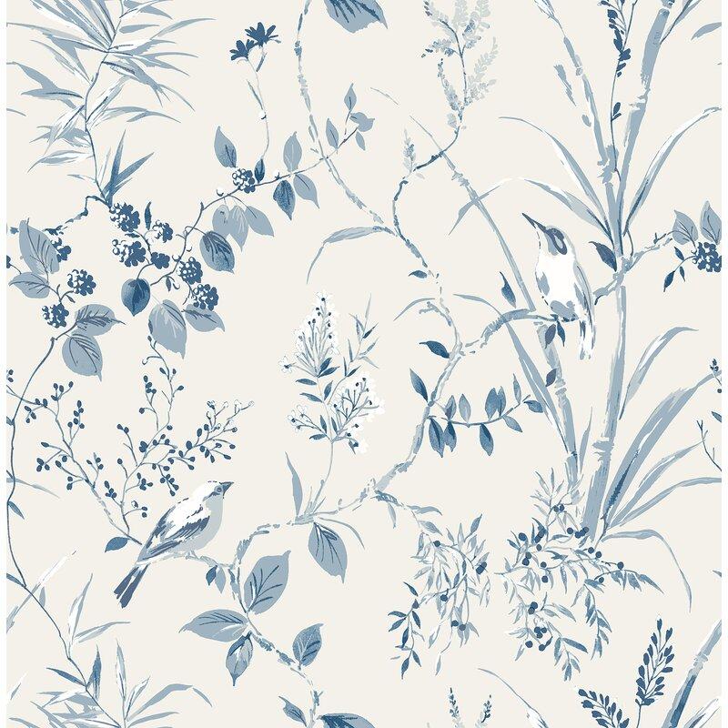 """Brooten Botanical 33' L x 20.5"""" W Wallpaper Roll"""