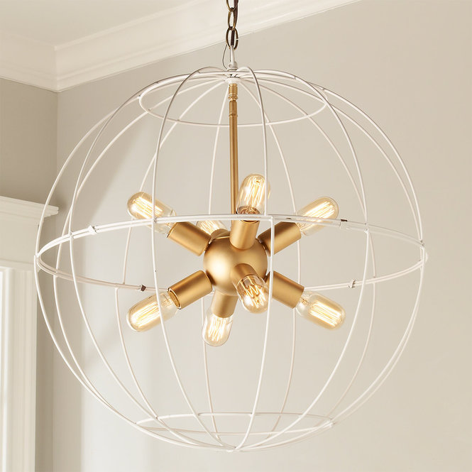 YOUNG HOUSE LOVE LARGE WIRE GLOBE SPUTNIK CHANDELIER