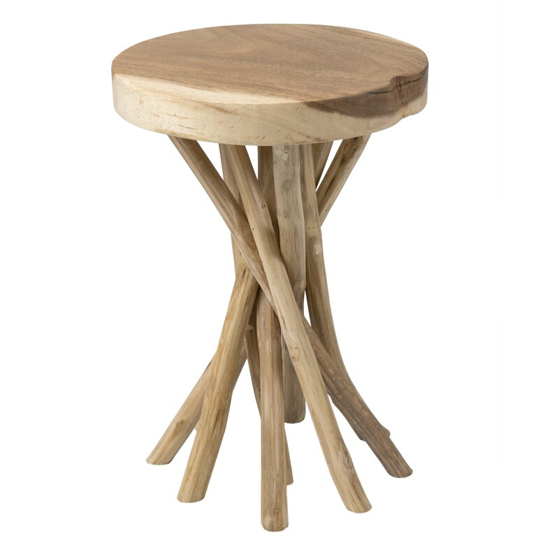 Mader Solid Wood Pedestal End Table