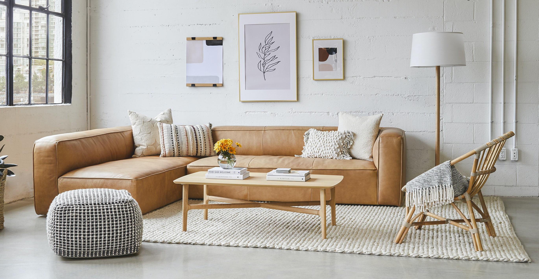 Brezza Light Oak Rectangular Coffee Table
