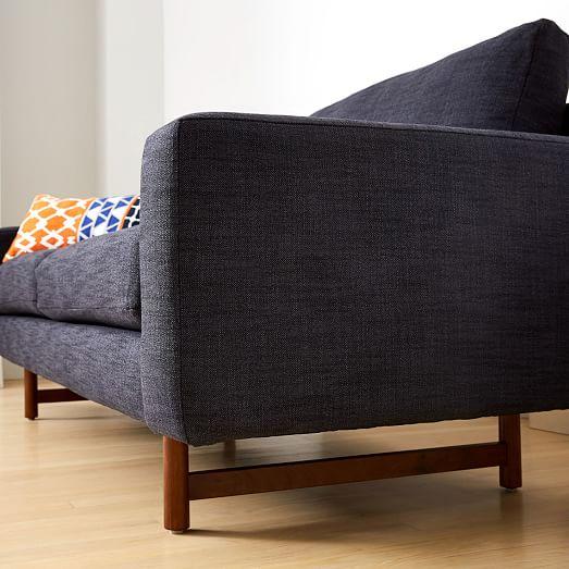 Eddy 74 Sofa Yarn Dyed Linen Weave, Eddy West Furniture Company