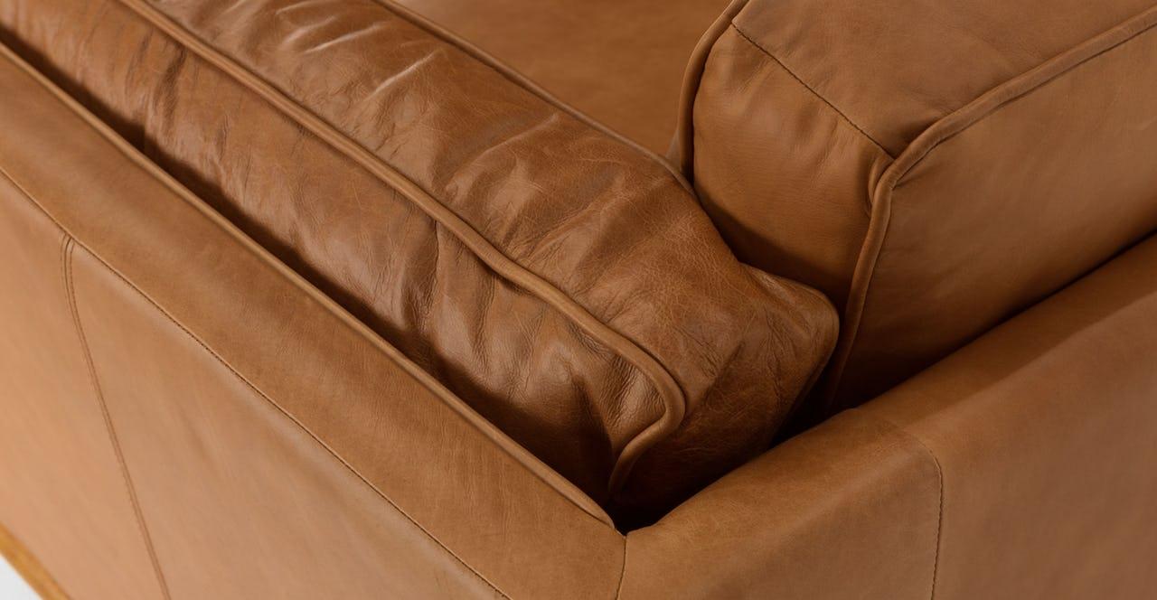 TIMBER Charme Tan Leather Sofa