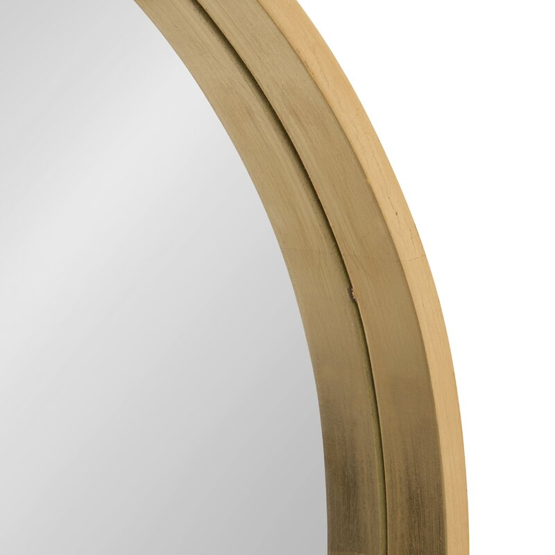 """21.6"""" x 21.6"""" Gold Swagger Modern & Contemporary Accent Mirror"""