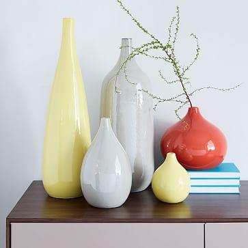 Bright Cermicist Vase, Bud, Bright Red
