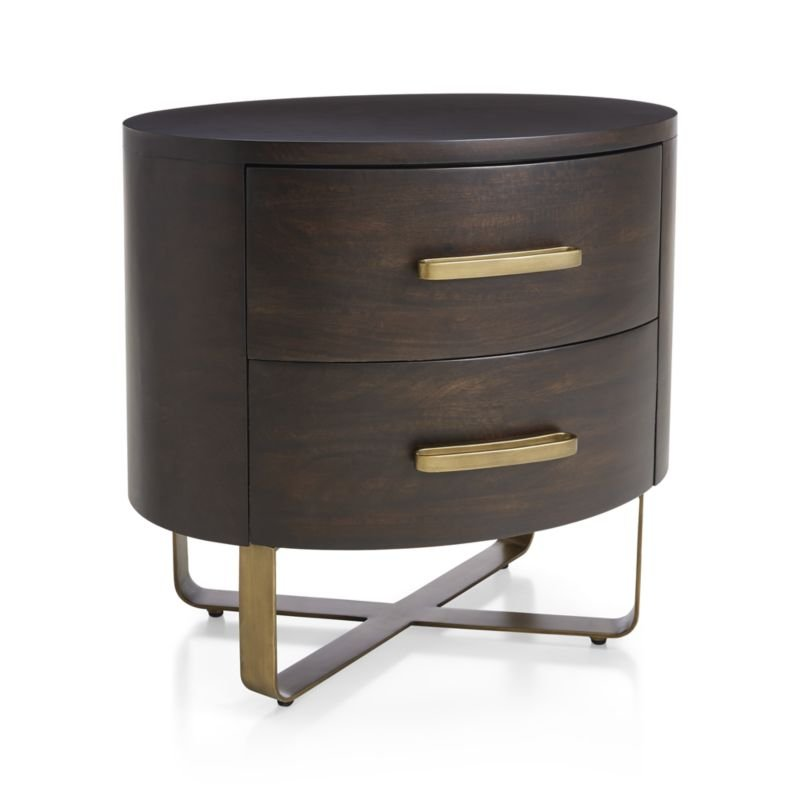 Gwen Wood and Metal Nightstand