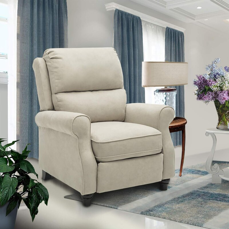 Ferebee Pushback Roll Arm and Easy to Push Mechanism Manual Recliner