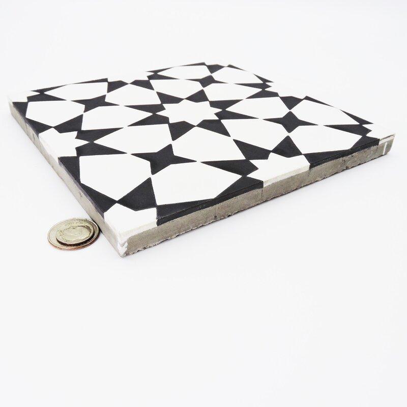 "Medina 8"" x 8"" Cement Field Tile"
