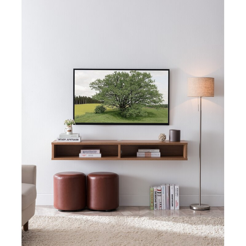 """Keiper Solid Wood Floating TV Stand for TVs up to 70"""""""